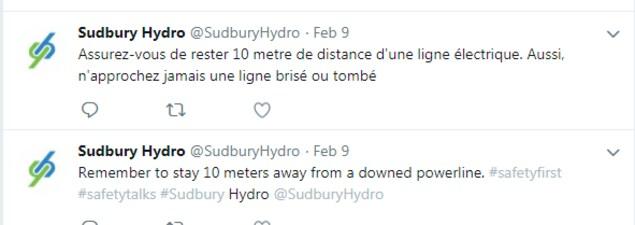Un exemple de message publié sur Twitter avec avec fautes d'orthographe dans la traduction en français.