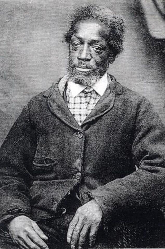 La photo d'un homme, une photo très vieille