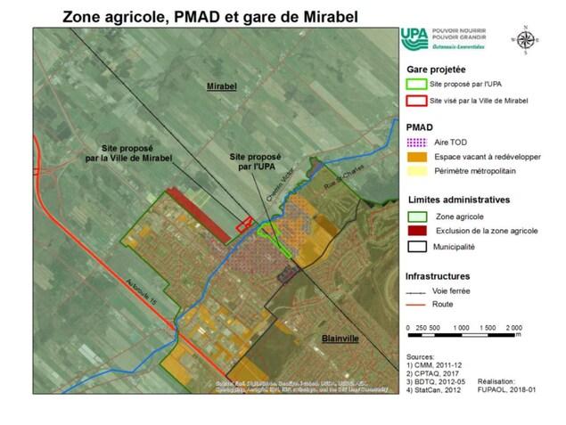 Un carte du secteur Saint-Janvier.
