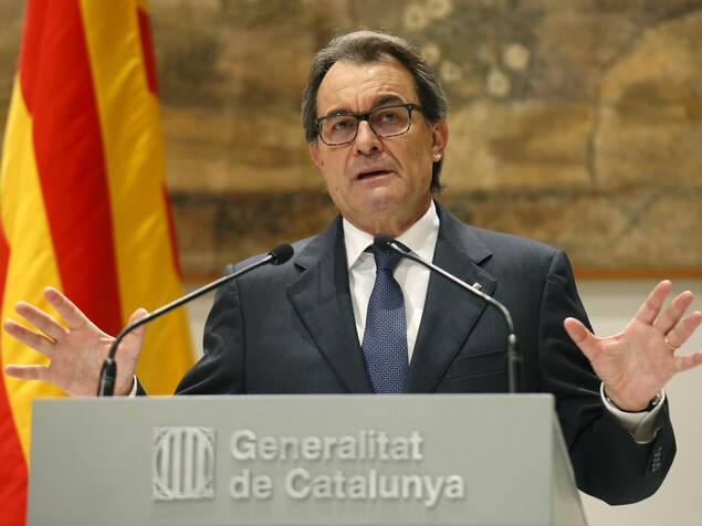 Artur Mas, alors qu'il était président du gouvernement catalan.