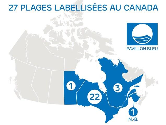 27 plages canadiennes ont la certification Pavillon bleu.