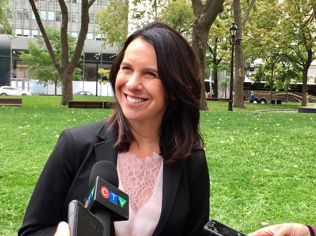 La chef de Projet Montréal, Valérie Plante, le vendredi 13 octobre 2017