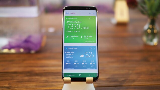 Le téléphone intelligent Samsung Galaxy S8.