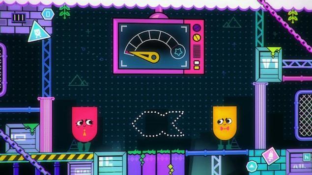 Le jeu vidéo Snipperclips est en vente sur la Nintendo Switch.