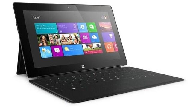 La première tablette Surface de Microsoft avec Windows RT.