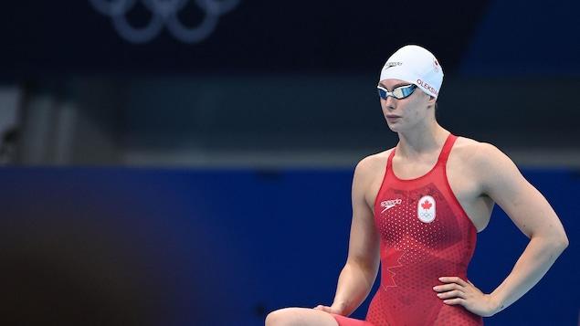 Penny Oleksiak en maillot de bain de compétition.