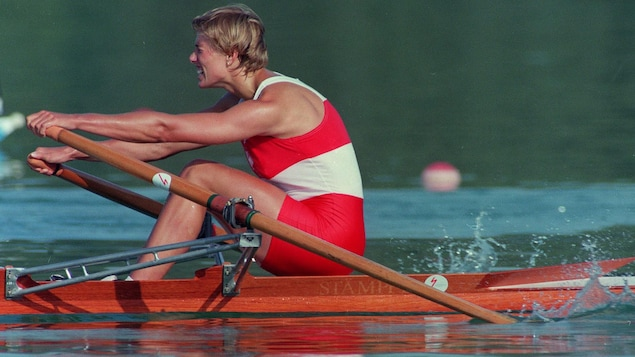 Silken Laumann rame au bout de ses forces.