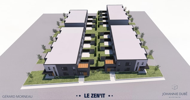 Maquette du complexe immobilier ZEN'IT
