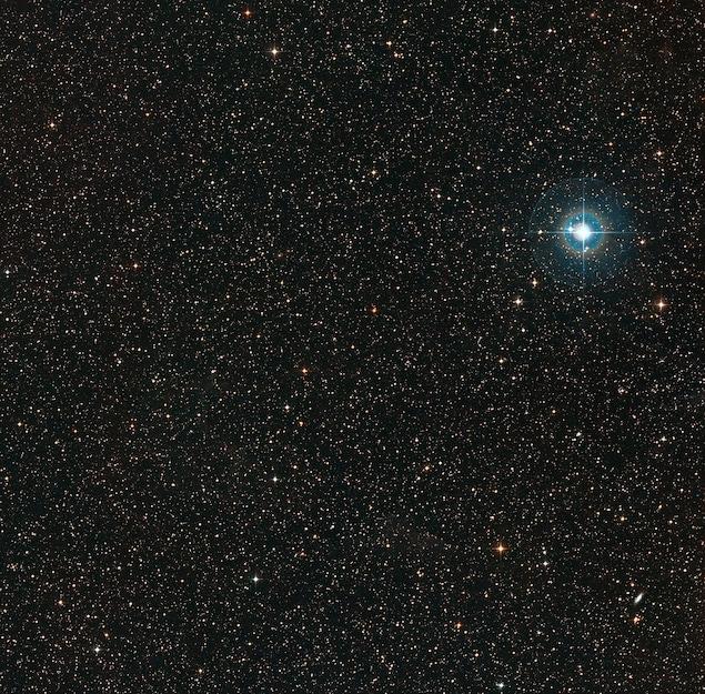 Image du ciel environnant la faible naine orange PDS 70.