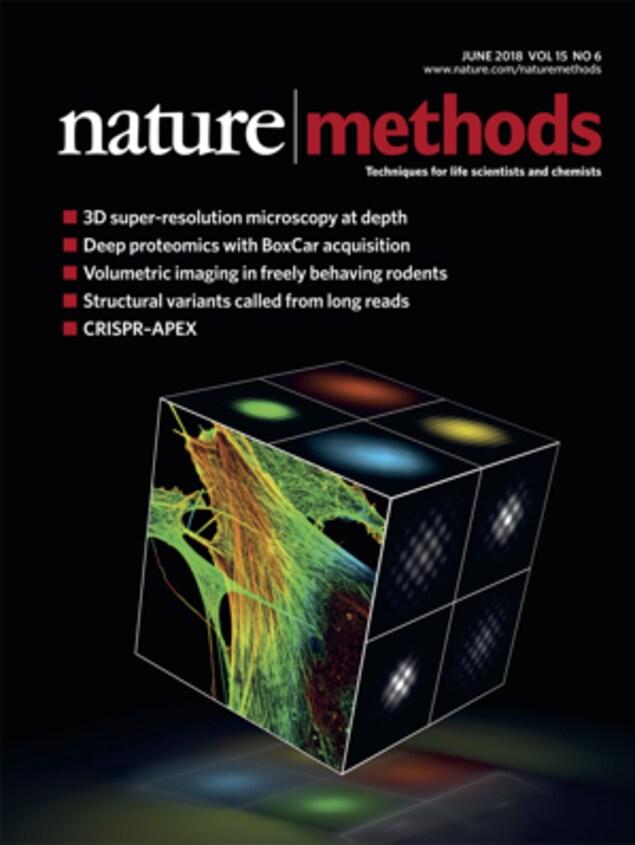 La une de la revue «Nature Methods» de juin 2018.