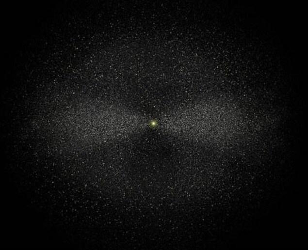 Le nuage d'Oort entoure notre système solaire.