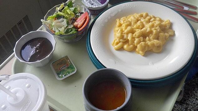 Un repas d'hôpital