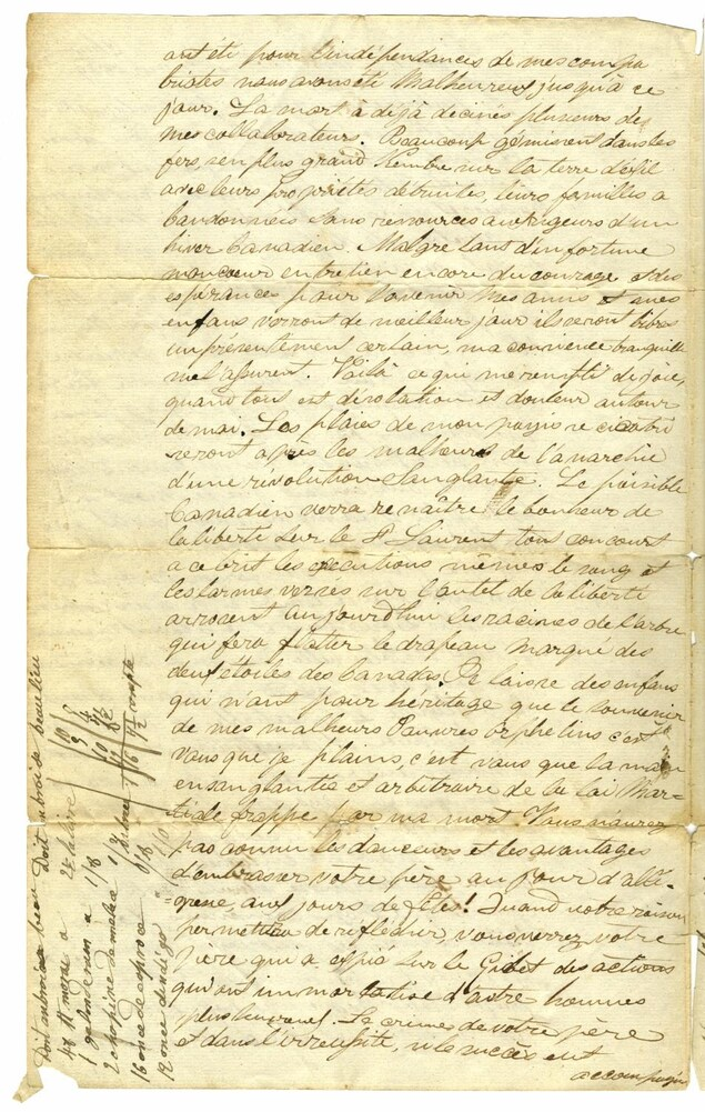 Le fils de Lambert Richard s'est servi de la marge du document pour prendre des notes, ce qui a permis à la BAnQ de déterminer l'âge du document.