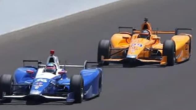 Fernando Alonso sur le circuit d'Indianapolis en 2017