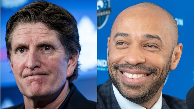 Mike Babcock et Thierry Henry