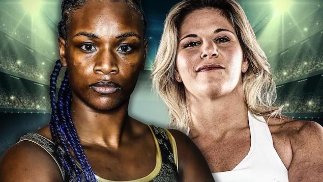 L'affiche promotionnelle du combat à venir entre Claressa Shields et Marie-Eve Dicaire.