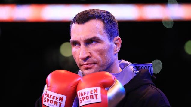 L'ancien boxeur ukrainien avant le début d'un de ses nombreux combats