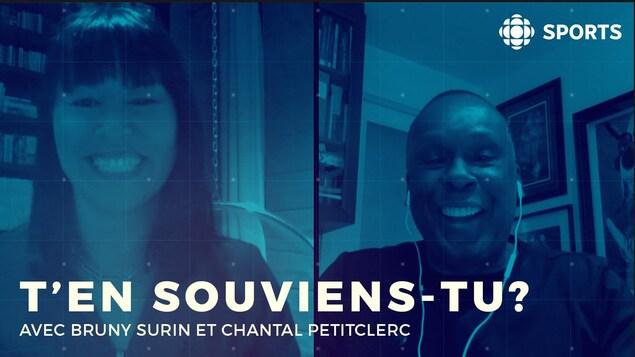 Chantal Petitclerc et Bruny Surin
