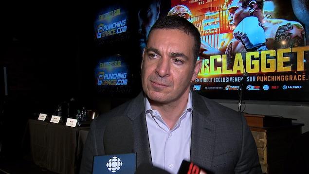 Camille Estephan en entrevue au micro de Radio-Canada Sports