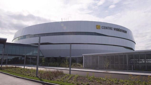 Vue du Centre Vidéotron le jour de son ouverture, le 8 septembre 2015.