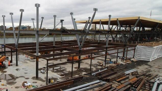 Le chantier du circuit Gilles-Villeneuve filmé en continu (image du 30 octobre 2018)