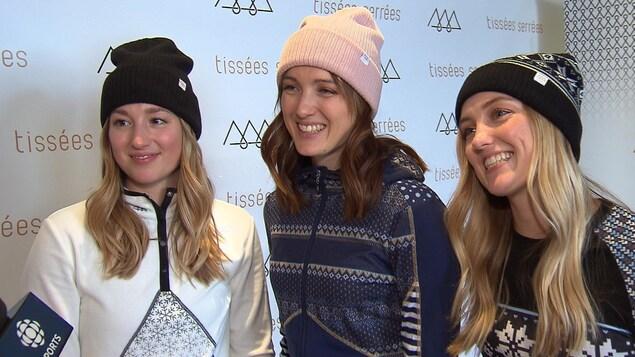 Chloé, Maxime et Justine Dufour-Lapointe en entrevue à Radio-Canada
