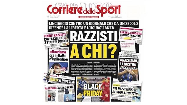 La une de Corriere dello sport du vendredi 6 décembre 2019