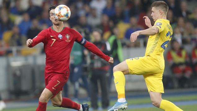 Cristiano Ronaldo et Mykola Matviyenko