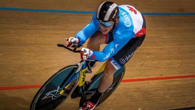 Joël Archambault en action sur une piste au Brésil