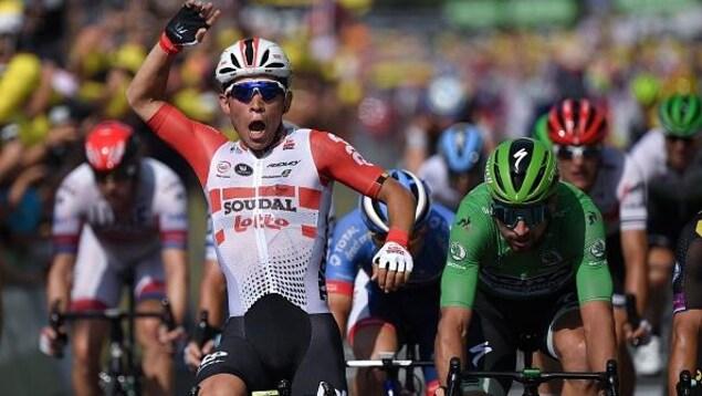 Caleb Ewan remporte sa deuxième victoire d'étape au Tour de France de 2019.