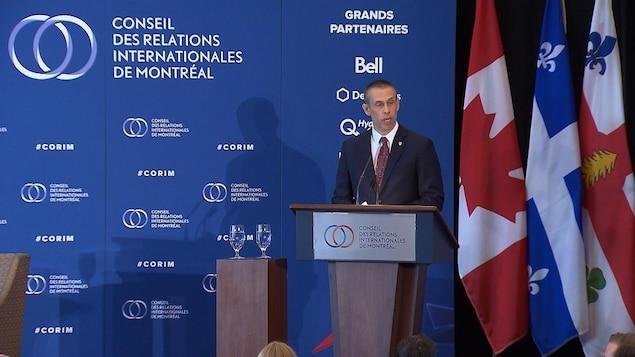 David Shoemaker prononce une conférence devant le Conseil des Relations internationales de Montréal
