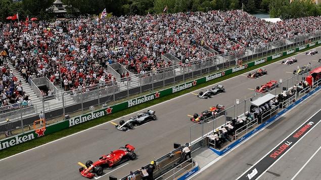 Départ du Grand Prix du Canada en 2018.