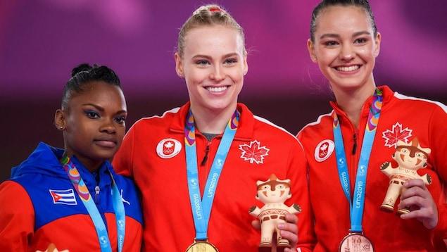 La Cubaine et les Canadiennes sont sur le podium.