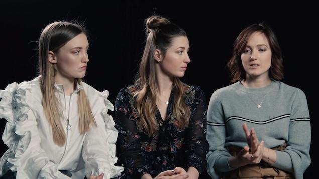Justine, Chloé et Maxime Dufour-Lapointe