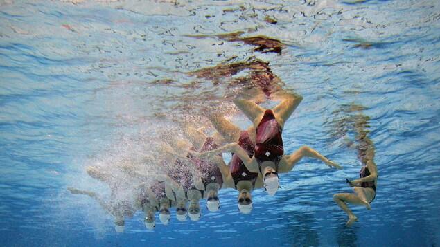 L'équipe canadienne de natation artistique en Chine en 2011