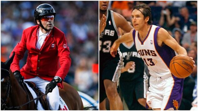 Les deux anciens athlètes durant leur carrière