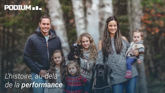 Erik Guay et sa famille