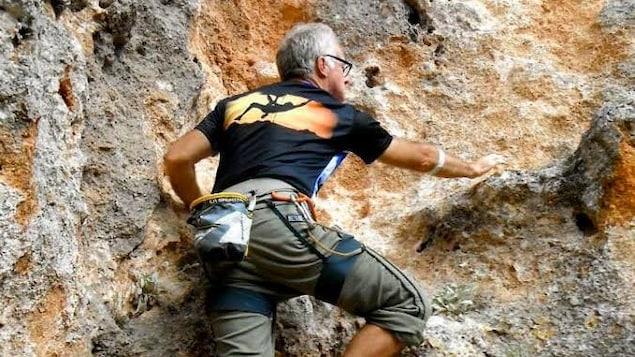 Normand Hébert lors d'un voyage d'escalade en Turquie en 2014.