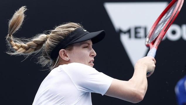 Eugenie Bouchard lors de son match de premier tour des Internationaux de tennis d'Australie