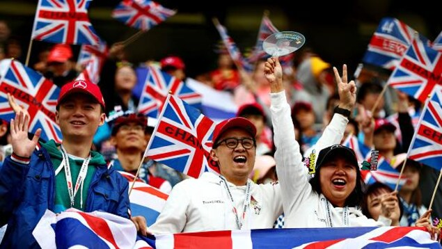 Des partisans chinois de Lewis Hamilton et de l'écurie Mercedes