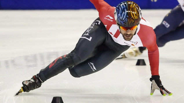 Francois Hamelin en action à la Coupe du monde de Calgary, en 2016.
