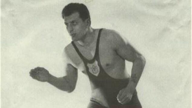 George Reinitz champion canadien de lutte en 1957