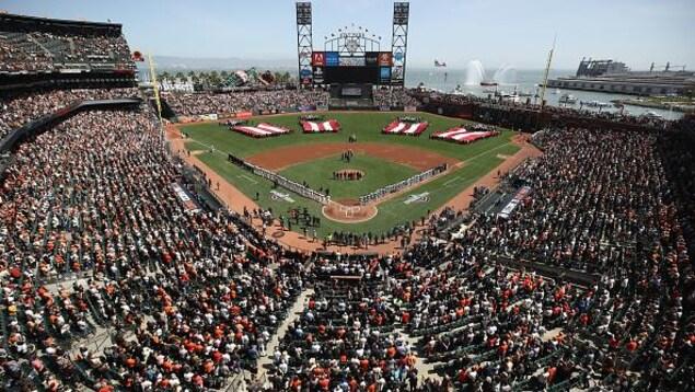 Le stade des Giants de San Francisco lors d'un match contre les Mariners de Seattle