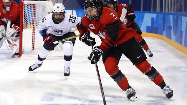 Hockey féminin Canada-États-Unis