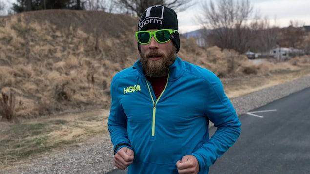 James Lawrence pendant une course.
