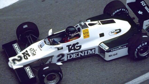 Jacques Laffite dans la Williams FW08C en 1983