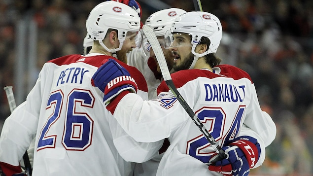 Jeff Petry (no 26) et Phillip Danault (no 24)