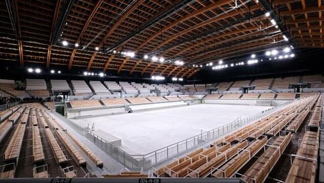 Vue intérieure du Centre de gymnastique Ariake pour les Jeux olympiques de Toyko 2020