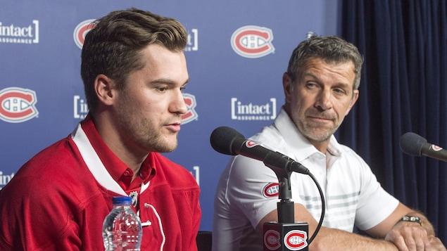 Jonathan Drouin et Marc Bergevin