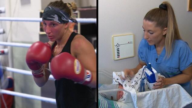 Kim Clavel, boxeuse professionnelle et infirmière auxiliaire